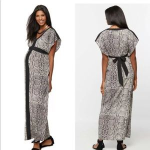 Rachel Zoe maternity small snakeskin dress